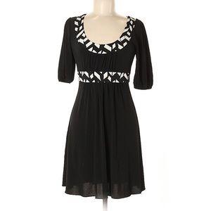 My Michelle Geometric Accent Casual Black Dress L